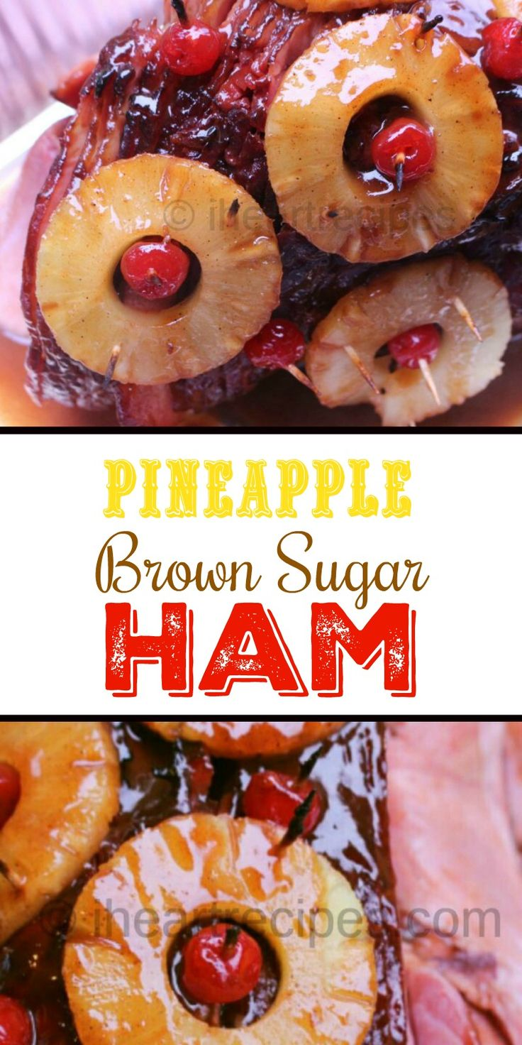 The Best Ham with Pineapple & Brown Sugar Recipe. Glaze made with brown sugar, mustard, pineapple juice and more! My holiday is incomplete if I don't have a pineapple ham on the table! I seriously believe everyone should have at least one pineapple ham recipe in the recipe collection. So in this post, I'm going to share my ham with pineapple and brown sugar recipe! The glaze for this ham has all of your favorite ingredients such as honey, pineapple juice, brown sugar, and even a c...