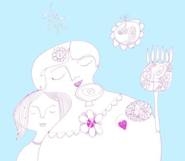mariska eyck: mother and daughter, dreamy mood