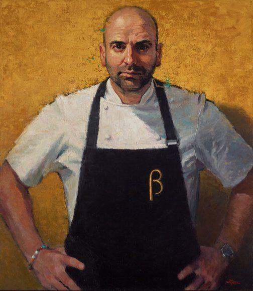 Betina Fauvel-Ogden: George Calombaris, masterchef :: Archibald Prize 2016 :: Art Gallery NSW