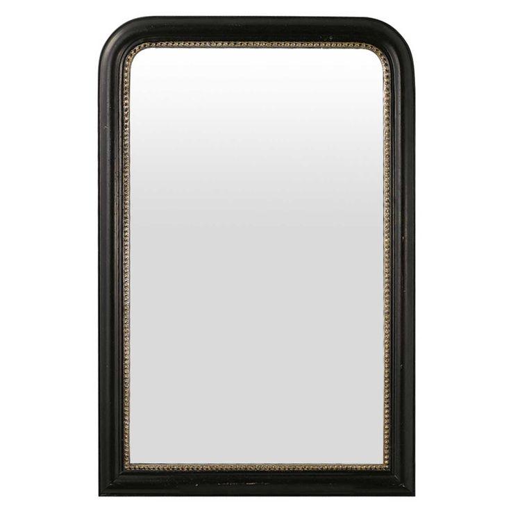 Fransk spegel 90x60, svart i gruppen Inredningsdetaljer / Hemmets bra att ha / Speglar hos RUM21.se (113528)