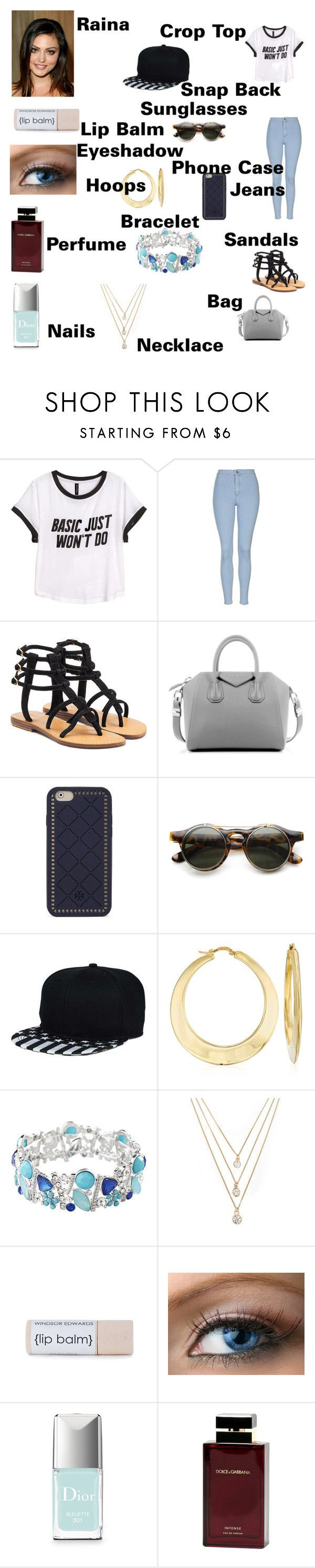 """""""Raina's Outfit for day in Santiago, Chile"""" by onedirectionforever1297 on Polyvore featuring H&M, Topshop, Mystique, Givenchy, Tory Burch, Ross-Simons, Avenue, Forever 21, Christian Dior and Dolce & Gabbana Fragrance"""