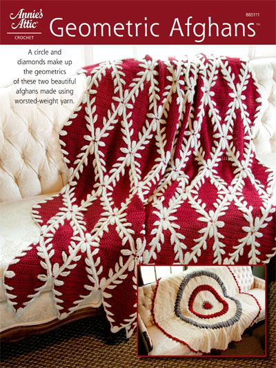 Crochet - Afghan & Throw Patterns - Assorted Patterns - Geometric Afghans Crochet Patterns