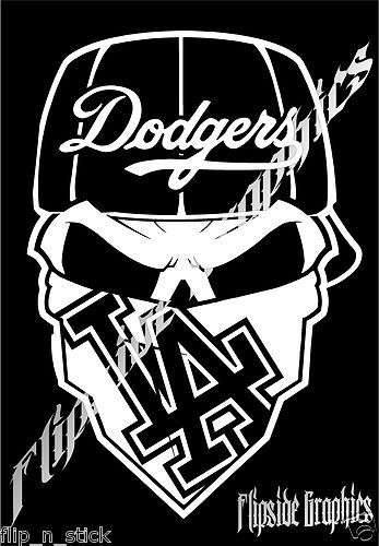 Custom Decals Dodgers And Decals On Pinterest