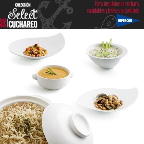 Presentaciones sorprendentes y espectaculares para tus recetas de cuchara con los platos de la colección Select by Quid. A la venta en Hipercor