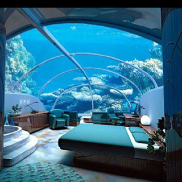 Best bedroom ever i would never get any sleep though for Underwater bedroom designs