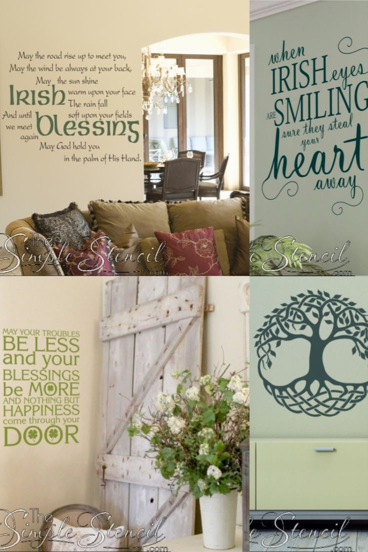 We Have A Large Assortment Of Ireland Inspired Wall Decor To Decorate Your Home With The Luck Of The Irish Easy To Ins In 2020 Wall Decor Decor Vinyl Wall Lettering