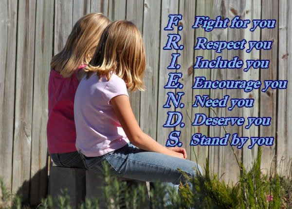 F. Fight for youR. Respect youI. Include youE. Encourage you.N. Need youD. Deserve youS. Stand by you.