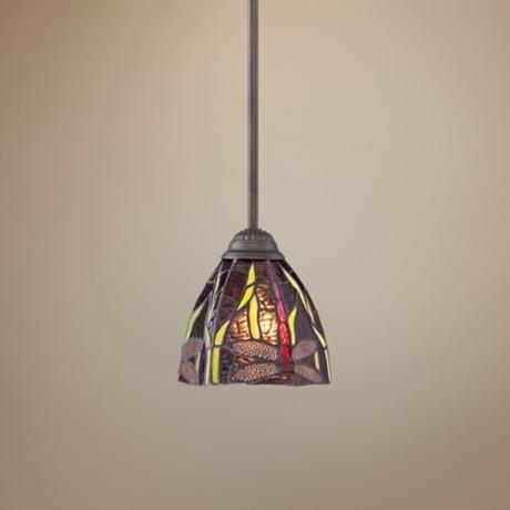Tiffany Style Pendant Light Above Kitchen Sink