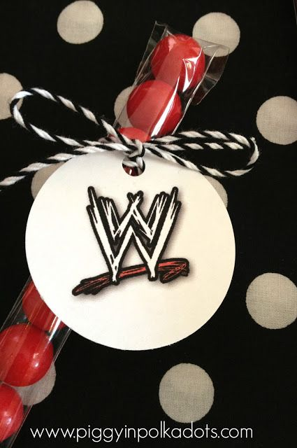 WWE Party Favors-Free Logo Printable-www.piggyinpolkadots.com