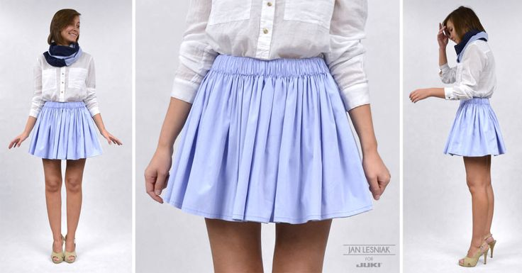 DIY: A Mini skirt gathered in waist http://www.pracowniajanlesniak.pl/en/diy-a-mini-skirt-gathered-in-waist-and-a-spring-shawl/
