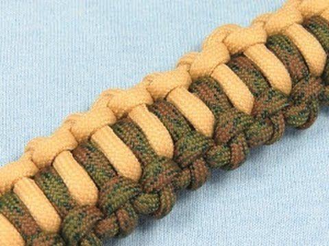 How to make a (TIAT's) Backbone Bar Paracord Buckle Bracelet Tutorial (P...
