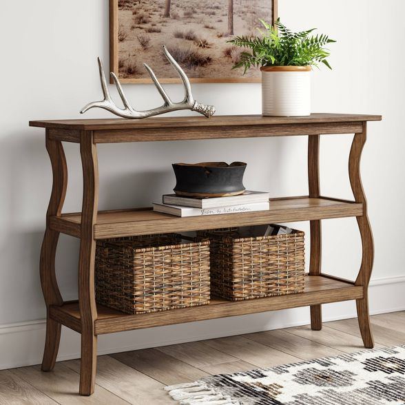 Shelburne Console Table Natural Threshold Console Table Console Table Decorating Metal Console Table