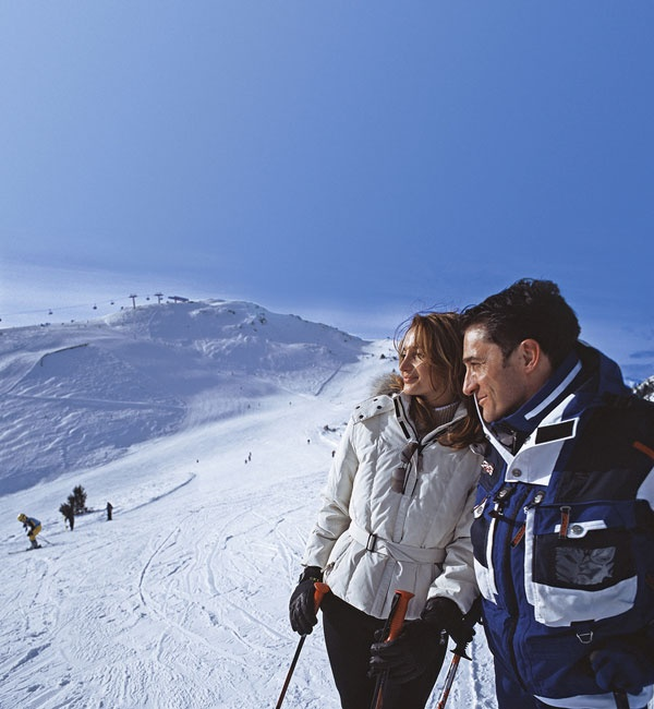 Panorama dalla ski area di Maranza Valles