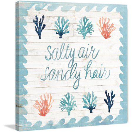 Marmont Hill Salty Air Sandy Hair Painting Print on Wrapped Canvas, Size: 24 inch x 24 inch, Multicolor