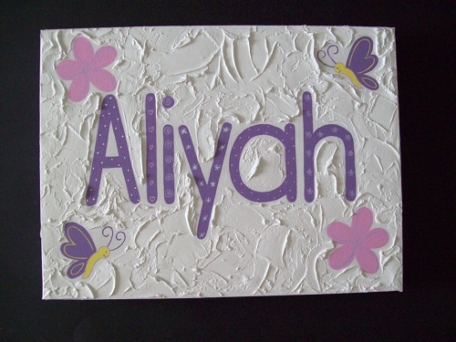 Handpainted Girls Name canvas'  30cm x 40cm  Custom made to suit individuals decor