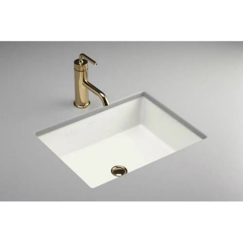Honed White Kholer 128 Contemporary Bathroom Sinks Undermount Bathroom Sink Sink