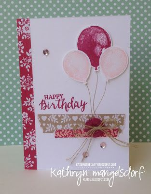Kathryn's Stampin' World: CASE-ing the Catty Balloon Builders - #CTC63