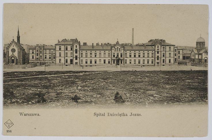 Pocztówka: Warszawa, Szpital Dzieciątka Jezus (ante 1906)