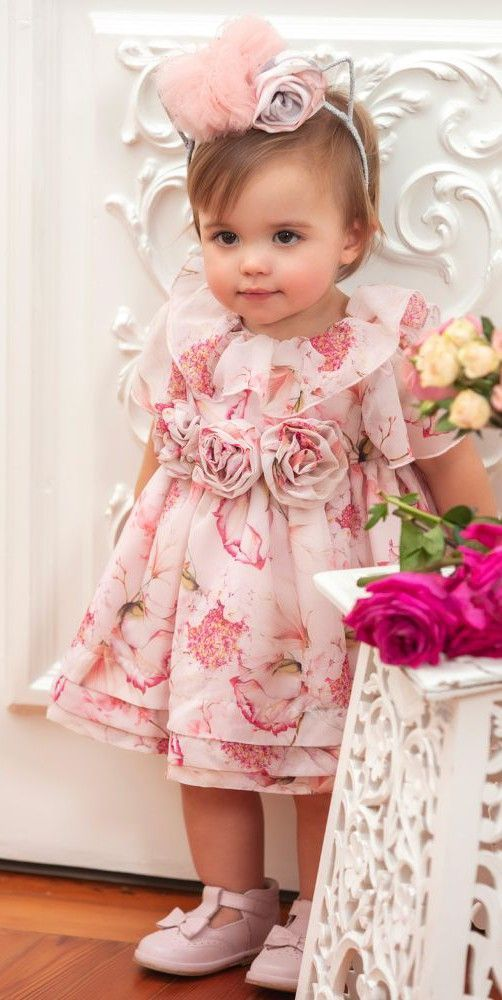 57e50bbeb Cutie! Love this picture of a baby girl wearing this Patachou Floral ...
