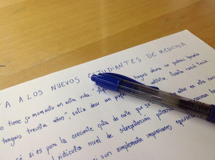 Carta a los nuevos estudiantes de medicina