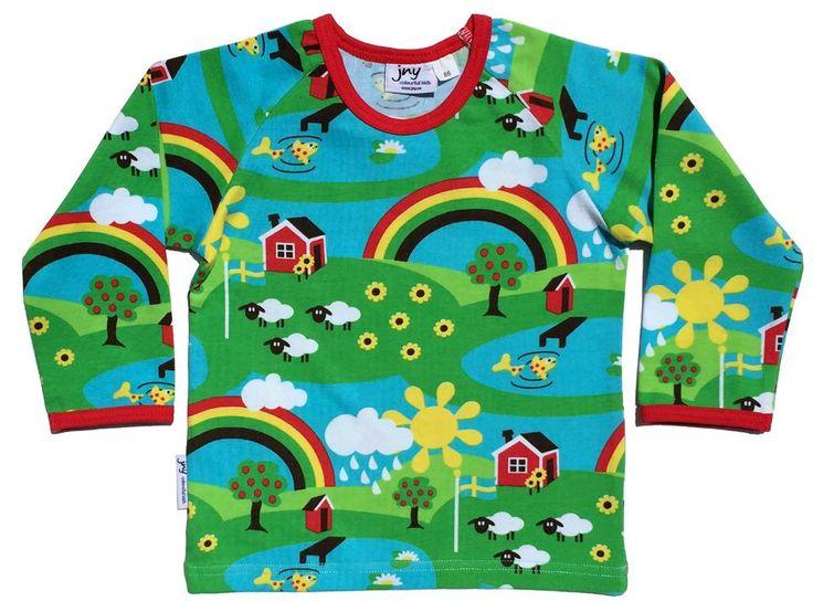 JNY organic l/s tee - Rainbow summer print Retro Baby Clothes - Baby Boy clothes - Danish Baby Clothes - Smafolk - Toddler clothing - Baby Clothing - Baby clothes Online