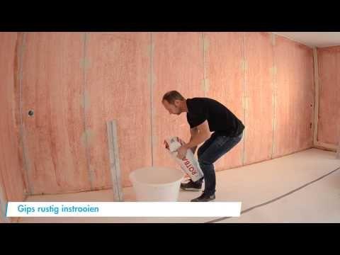 De grote stucklus met Rotband van Knauf - YouTube