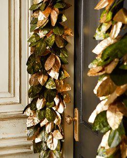 Horchow - H7AYX Magnolia Leaf 6' Garland - $136.00