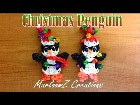 Rainbow Loom Penguin ( Christmas ) Marloomz Creations Can be made on a Rainbow Loom, Crazy loom, Twist n loop and Wonder loom. Please Subscribe To My Channel...