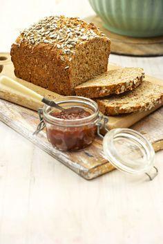 Maklike gesondheidsbrood, Hierdie brood is volgens die beslagmetode. Dis so maklik, jy kan dit elke dag bak.