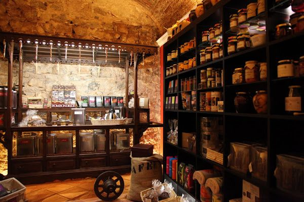 The Gourmet Shop at Tavira Market has a wide selection of Teas, Biscuits, Jams, Sweets and Chocolates. Tavira, East Algarve, Portugal