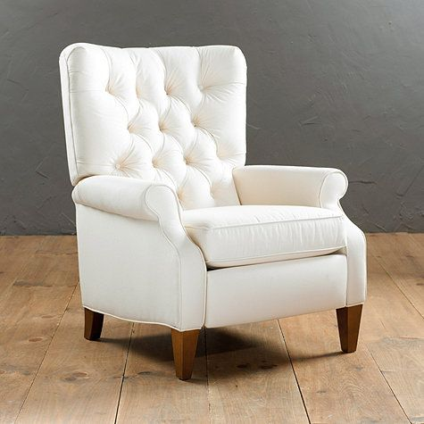 Love it! A recliner with class... Especially love the Basketweave Oatmeal fabric option. Now if only the price were more acceptable...