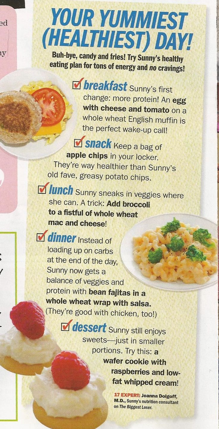 From Seventeen magazine - healthy food