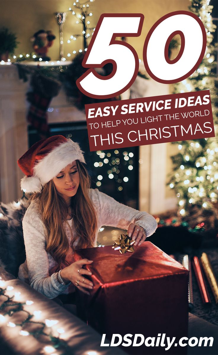 As part of their 2016 Christmas initiative, The Church of Jesus Christ of Latter-day Saints is encouraging the world to participate in a worldwide day of service on December 1.   Whether you are looking for a random act of kindness or a group-oriented service project, we've gathered 50 different service ideas perfect for any …