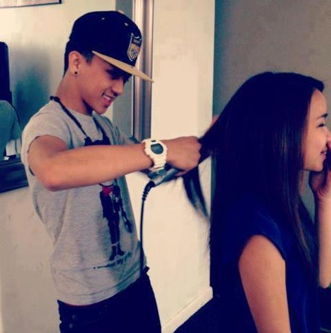 To me this js weird and strange. Boyfriend doing girlfriends hair. So unlikely ladies. But if my man did this for me and didnt nip my ears id be excited