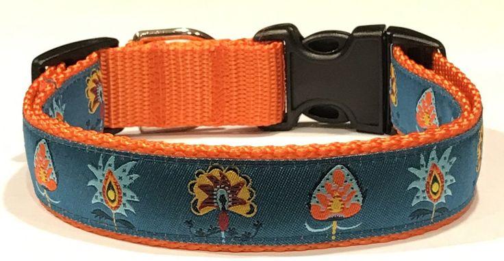 Sue Spargo Designer Ribbon Designer Dog Collar:Thistles Flowers Designer Jacquard Ribbon,Pet Accessories/Supplies,Pet/Vet Gift,Doggie Collar by TwistnShoutDesigns on Etsy