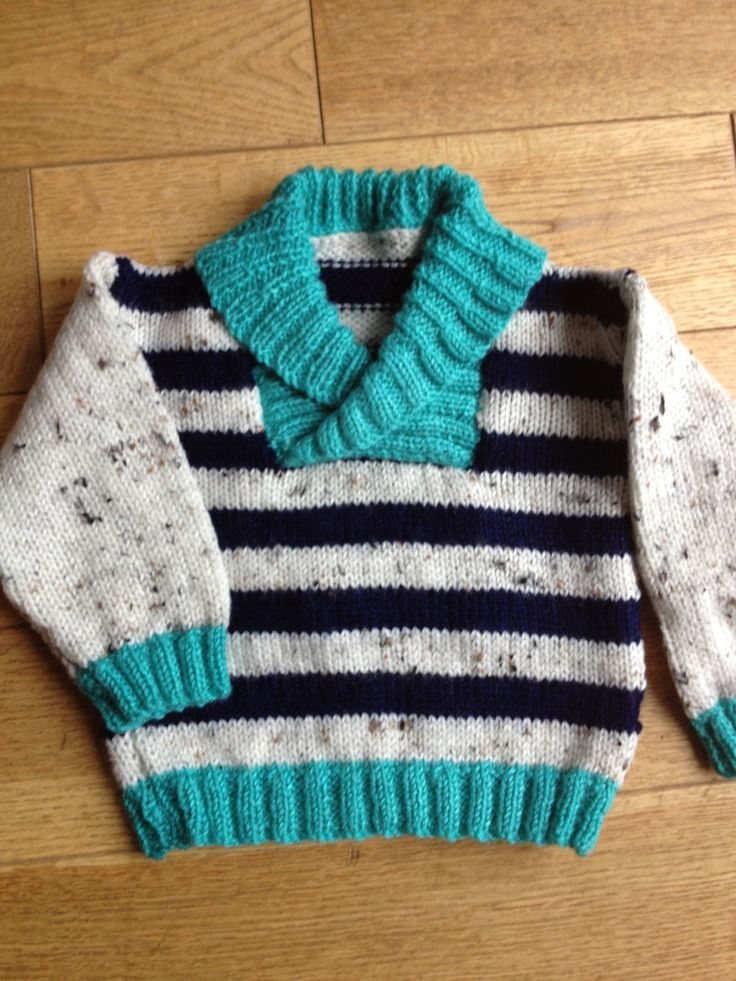 Stripey cosy baby knit