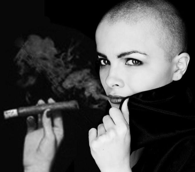 Bald Women And Cigar - CIGAR&FASHION EVERY TIME