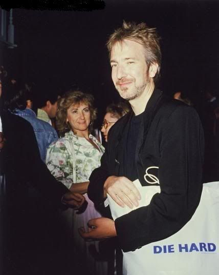 """July 12, 1988 -- Alan Rickman at the premiere of """"Die Hard"""" in, Westwood, CA."""