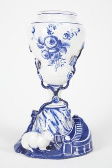 Rabbit - Vase with rabbit below, made 1777 in Sweden. The only rabbit to be widely domesticated is the European rabbit, which has been extensively bred for food and later as a pet. It was first widely kept in ancient Rome and has been refined into a wide variety of breeds during and since the Middle Ages.