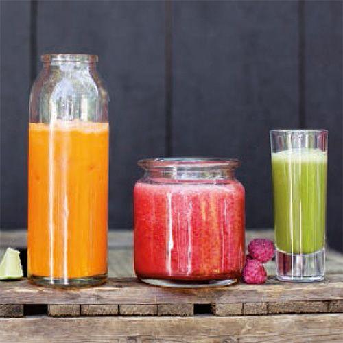 Power juice met frambozen & wortel