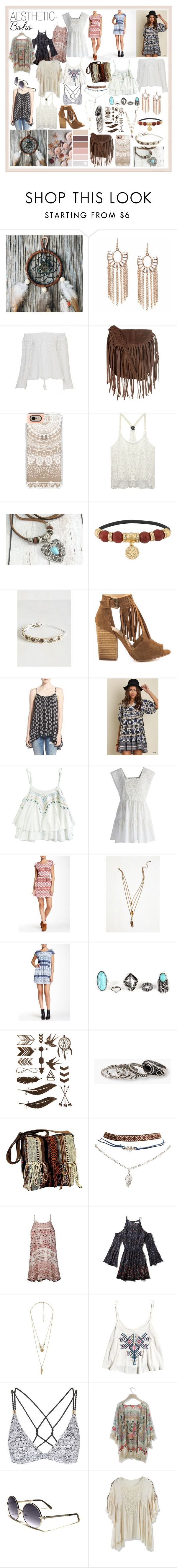 AESTHETIC - Boho by sophsophcherry on Polyvore featuring Pink Rose, Umgee, Abercrombie & Fitch, Ally Fashion, Sun & Shadow, Chicwish, Wet Seal, Topshop, Chinese Laundry and Glamorous