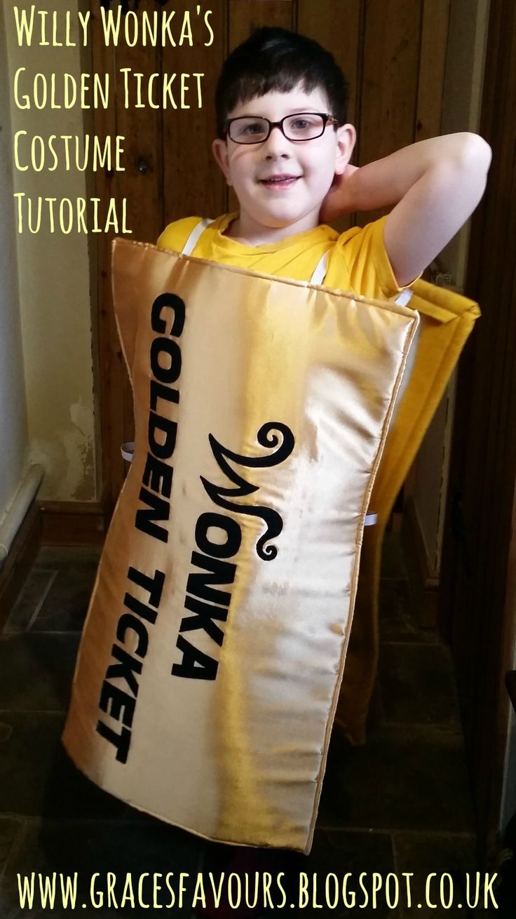 Sewing Tutorial - How to Make a Willy Wonka Golden Ticket Costumer from Charlie & The Chocolate Factory for World Book Day