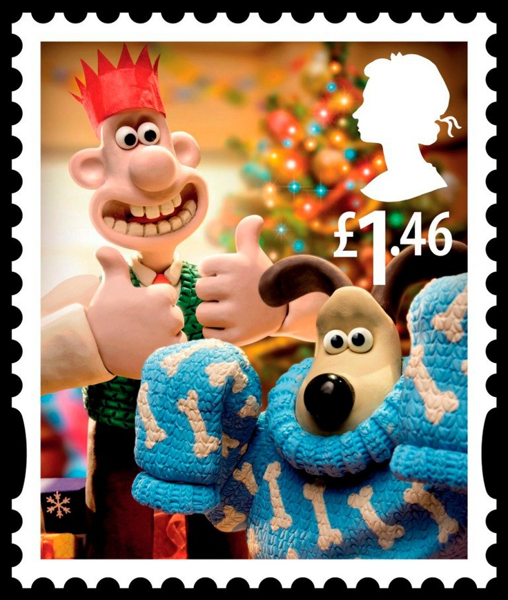 British Stamp - Wallace and Gromit Christmas
