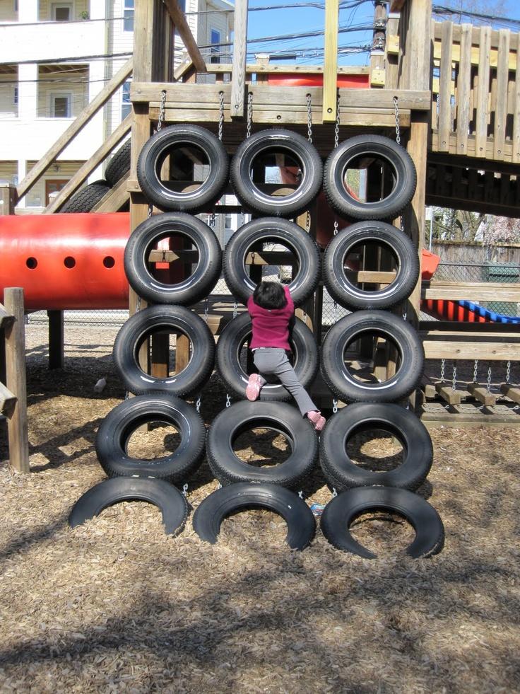 Tire climbing wall sjovt pinterest for Tire play structure