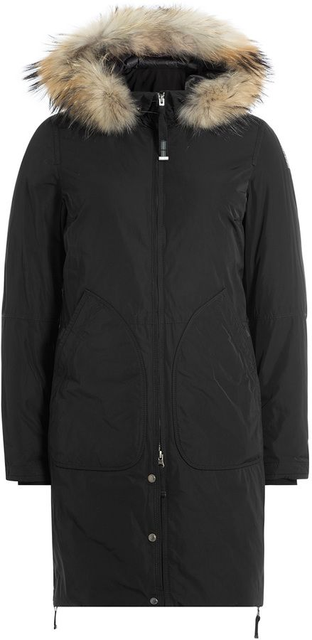 Parajumpers Alison Down Jacket with Fur-Trimmed Hood