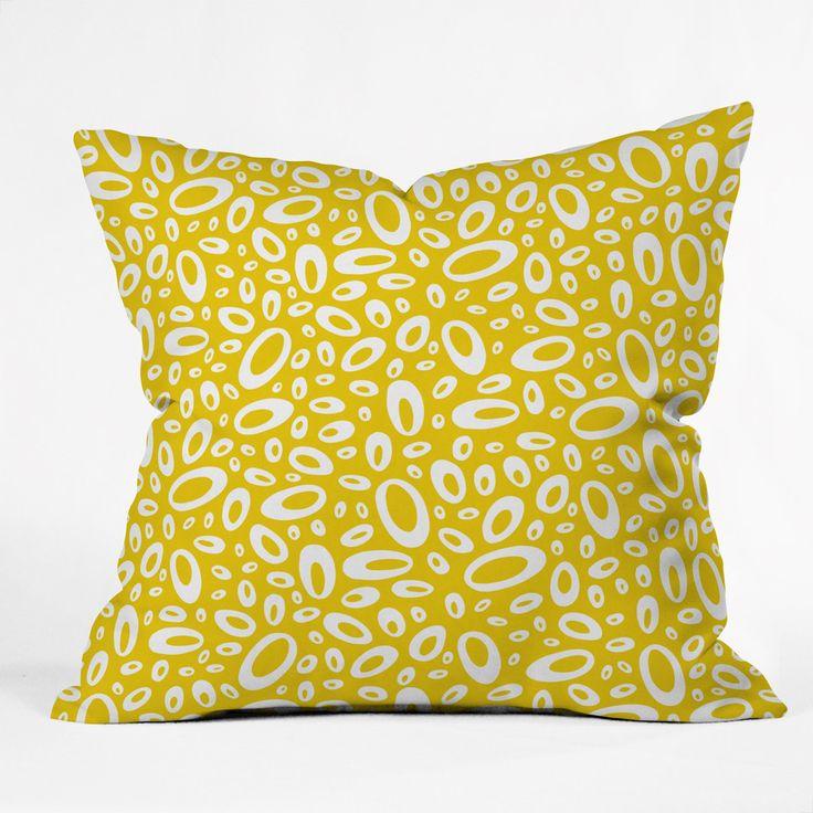 Leather Sectional Sofa Heather Dutton Molecular Yellow Throw Pillow