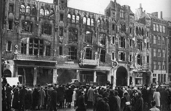 Ruine na de brand C&A, Amsterdam