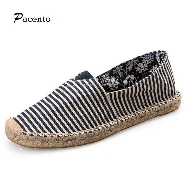 2016 Pacento Slip on Canvas espadrilles Black and White Women Loafers Round Toe Flats Shoes Summer Woman Breathable Female Shoes
