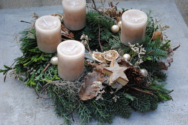 Adventskranz - Adventskranz / Weihnachtskranz - ein Designerstück von Inna-Dueck bei DaWanda