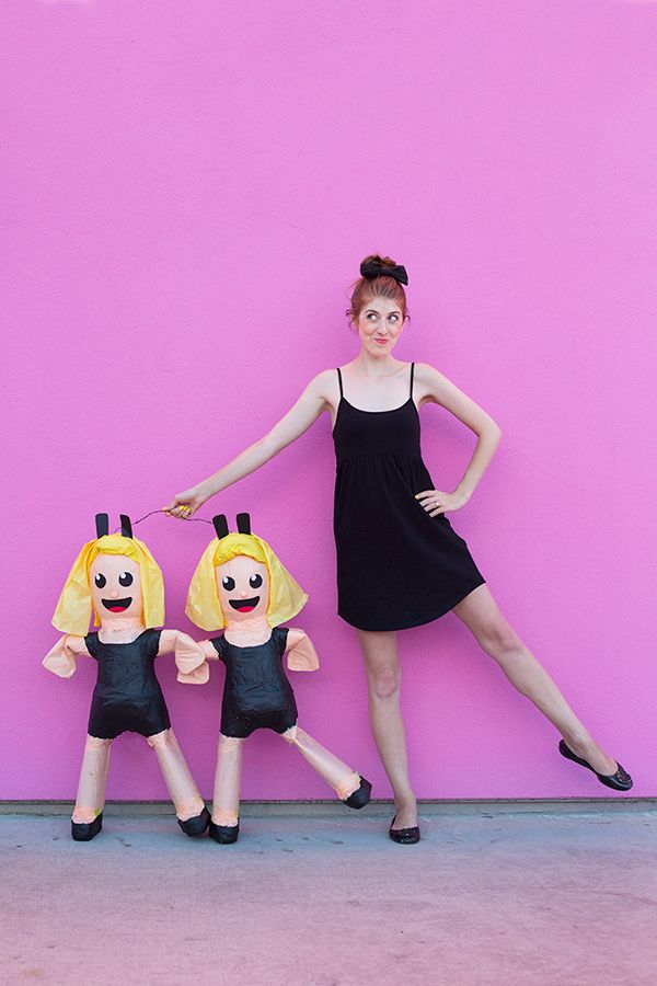 DIY Dancing Girls Emoji Piñata. YES!